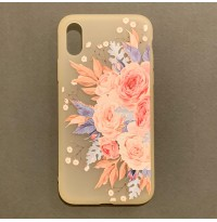 قاب ژله ای گلدار مات Mat flowering jelly  apple iphone 7-8-7p-8p-x-xs