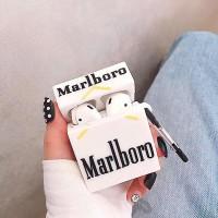کاور ایرپاد سیگار مارلبرو سفید(marlboro cigarett) با آویز airpod cover 1,2