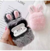 کاور ایرپاد خرگوش پشمالو به همراه آویز Airpod cover 1,2,pro
