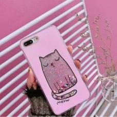 قاب گربه اکیل دار متحرک صورتی apple iphone 7p-8p-x