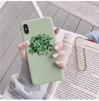 قاب گلدان ریحان سبز Apple iphone 6p-6sp-xsmax-11pro