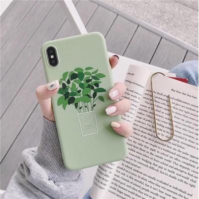 قاب گلدان ریحان سبز Apple iphone 6-6p-6s..