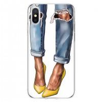 قاب کفش پاشنه بلند زرد apple iphone 6-6s-6p-6sp-7-8-7p-8p-x-xs-xr-xsmax -11-11pro-11promax