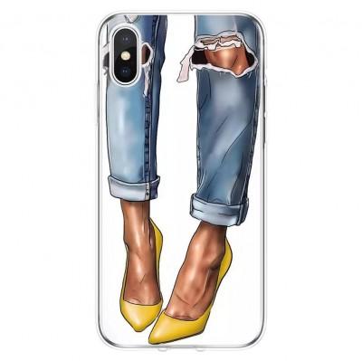 قاب کفش پاشنه بلند زرد apple iphone 6-6s..