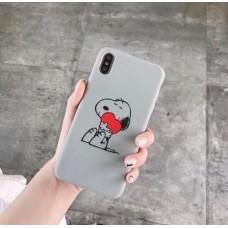 قاب احمقانه اسنوپی طوسی apple iphone 6-6s-7-8-7p-8p-x-xs-xsmax