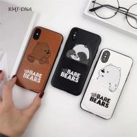 قاب خرس جا کارتی دار سفید apple iphone 6-6s-6p-6sp-x-xs-xsmax-11pro