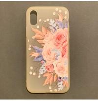 قاب ژله ای گلدار مات Mat flowering jelly  apple iphone 7-8-7p-8p-x-xs