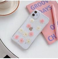 قاب با گل طبیعی خشک شده apple iphone 6-6s-6p-6sp-7-8-se2020-7p-8p-x-xs-xr-xsmax-11-11pro-11promax