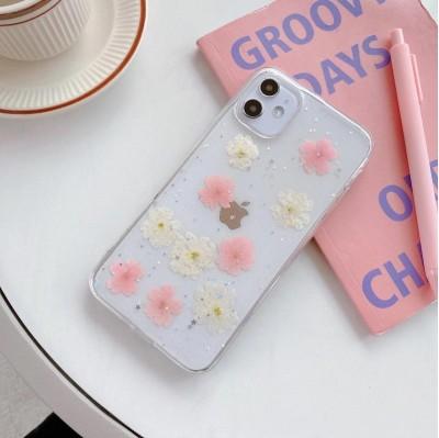 قاب با گل طبیعی خشک شده apple iphone 6-6..