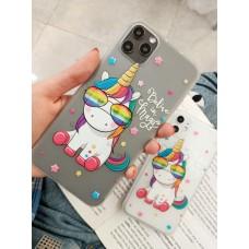 قاب یونیکورن با عینک apple iphone 6-6s-7-8-se2020-7p-8-8p-x-xs-xsmax-11-11pro-11promax
