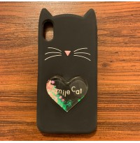 قاب گربه لاولی مشکی apple iphone 7-8-7p-8p-x-xs-xsmax