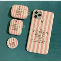 ست قاب و کاور ایرپاد ویکتوریا سکرت+پاپ سوکت  apple iphone 6-6s-7-8-se2020-7p-8p-x-xs-xr-xsmax-11-11pro-11promax