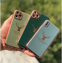 قاب شاخ گوزن الکتروپلیتینگ apple iphone 7-8-se2020-7p-8p-x-xs-xsmax-11-11pro-11promax