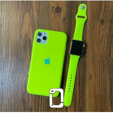 ست قاب و بند سیلیکون زیربسته فسفری apple iphone 5-5s-5se-6-6s-6p-6sp-7-8-se2020-7p-8p-x-xs-xr-xsmax-11-11pro-11promax