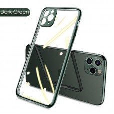 قاب پشت بیرنگ دور سبز به همراه محافظ لنز Apple iphone 7-8-se2020-7p-8p-x-xs-xsmax-11-11pro-11promax-12-12pro