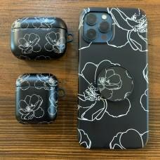 ست قاب و کاور ایرپاد گل مینیمال به همراه پاپ سوکت Apple iphone 6-6s-7-8-se2020-7p-8p-x-xs-11-11promax -12-12pro-12promax