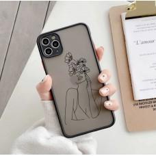 قاب چهره مینیمال مشکی محافظ لنزدار Apple iphone 6-6s-7-8-se2020-7p-8p-x-xs-xsmax-11-11pro-11promax-12-12pro-12promax