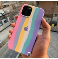 قاب سیلیکون زیربسته رنگین کمانی Apple iphone 6-6s-6p-6sp-7-8-se2020-7p-8p-x-xs-xr-xsmax-11-11pro-11promax-12-12pro-12promax
