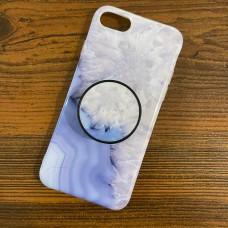 قاب سنگی یاسی به همراه پاپ سوکت Apple iphone 6p-6sp-7-8-se2020-x-xs