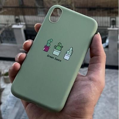 قاب طرح کاکتوس تکی Apple iphone xr-xsmax..