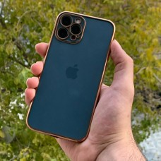 قاب پشت بیرنگ دور طلایی به همراه محافظ لنز Apple iphone 7p-8p-x-xs-11-12pro