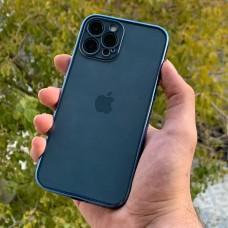 قاب پشت بیرنگ دور آبی به همراه محافظ لنز Apple iphone 7-8-se2020-7p-8p-x-xs-xsmax-11-11pro-11promax-12-12pro