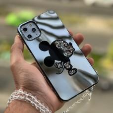 قاب میکی آینه ای نگین دار Apple iphone 7-8-se2020-7p-8p-x-xs-xsmax-11-11pro-11promax-12mini-12-12pro-12promax