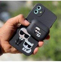 ست قاب و کاور ایرپاد Karl Lagerfeld کارل لاگرفلد تکی Apple iphone 6-6s-7-8-se2020-7p-8p-x-xs-xsmax-11-11pro-11promax-12-12pro-12promax