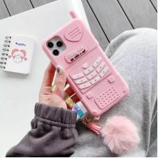قاب Pink Phone باربی به همراه آویز Apple iphone 7-8-se2020-7p-8p-x-xs-xsmax-11-11pro-11promax-12-12pro-12promax
