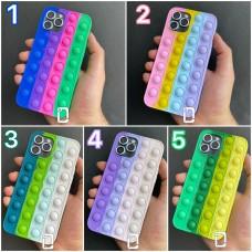 قاب رنگین کمانی ضد استرس (2) Apple iphone 6-6s-6p-6sp-7-8-se2020-7p-8p-x-xs-11-11promax-12-12pro-12promax