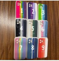 قاب سیلیکونی رنگین کمان 9 رنگ Apple iphone 12promax