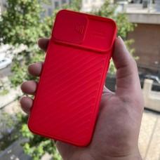 قاب ژله ای دوربین کشویی قرمز Apple iphone 11pro