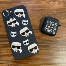 ست قاب و کاور ایرپاد Karl Lagerfeld کارل لاگرفلد پراکنده Apple iphone 6-6s-7-8-se2020-7p-8p-x-xs-xsmax-11-11pro-11promax-12-12pro-12promax