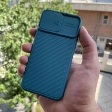 قاب ژله ای دوربین کشویی آبی Apple iphone 11-11pro-11promax