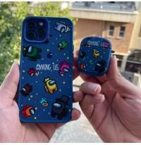 ست قاب و کاور ایرپاد Among us سرمه ای Apple iphone 7-8-se2020-7p-8p-x-xs-xr-xsmax-11-11pro-11promax-12-12pro-12promax