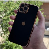 قاب الکتروپلیتینگ طرح بدنه گوشی مشکی Apple iphone 6-6s-6p-6sp-7-8-se2020-7p-8p-x-xs-xr-xsmax-11-11pro-11promax-12-12pro-12promax