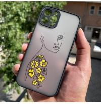 قاب مینیمال دختر مشکی محافظ لنزدار طرح (2) Apple iphone 6-6s-7-8-se2020-7p-8p-x-xs-xr-xsmax-11-11pro-11promax-12-12pro-12promax