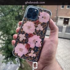 قاب K-doo flowers made with genuine flowers گل طبیعی Apple iphone 12-12pro-12promax