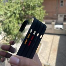 قاب اورجینال Doyers دویرز پشت شفاف دور مشکی Apple iphone 12mini