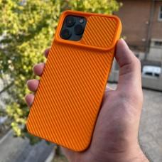 قاب دوربین کشویی,سیلیکونی نارنجی Apple iphone 6-6s-6p-6sp-7-8-se2020-7p-8p-x-xs-11-11pro-11promax-12-12pro-12promax