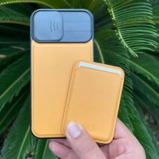 قاب چرمی محافظ لنزدار کشویی به همراه جاکارتی مگ سیف HDD(اورجینال) Apple iphone 12promax