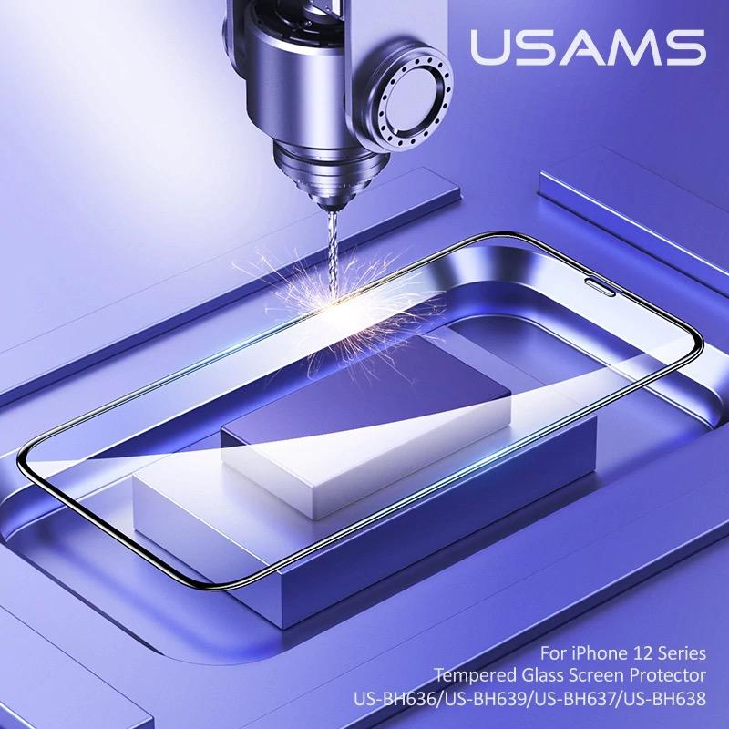 گلس فول USAMS full glass for apple iphone 12mini-12-12pro-12promax
